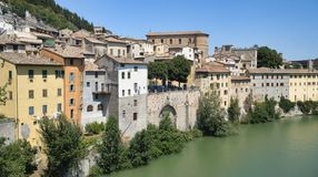 Fossombrone Marches, italy Royalty Free Stock Image