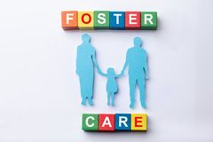 Foster Care Cubic Blocks With Family Figures
