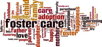 Free Foster Care Word Cloud Royalty Free Stock Photo - 174577365