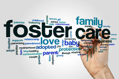Foster care word cloud stock illustration