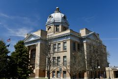 Foster County Courthouse. This is a Spring picture of the historic Foster County Courthouse located in Carrington,North Dakota in Foster County.  The Stock Images
