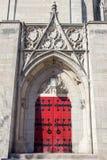 Foster Memorial Door and Peak Stock Photo