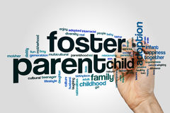 Foster parent word cloud royalty free illustration