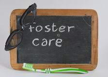 Fostercare, fostering. An (older) child Royalty Free Stock Photo
