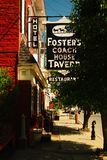 Fosters Coach House Tavern. Foster`s Coach House Tavern is a historic pub in downtown Rhinebeck, New York royalty free stock photography