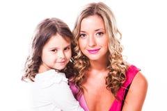 Fostra och dottern royaltyfri fotografi