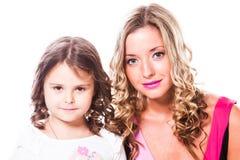 Fostra och dottern arkivfoto