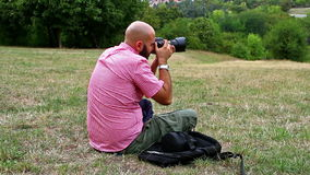 Fotógrafo almacen de metraje de vídeo