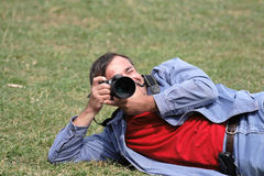 Fotógrafo Foto de Stock Royalty Free