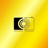 Fotógrafo Abstract con el fondo del oro Imagen de archivo