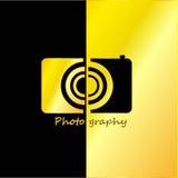 Fotógrafo Abstract con negro y fondo del oro Fotografía de archivo