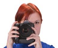 Fotógrafo adolescente de la muchacha Imagen de archivo libre de regalías
