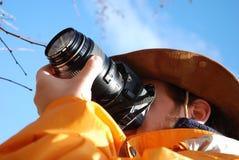 Fotógrafo al aire libre imagenes de archivo
