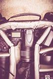 Fotógrafo Backpack Imagenes de archivo