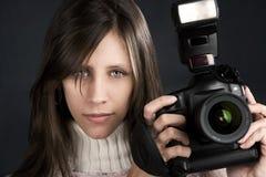 Fotógrafo bonito Fotos de archivo