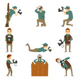 Fotógrafo Characters Icon Set Imagen de archivo