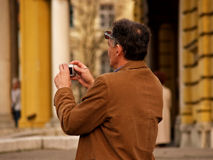 Fotógrafo común en la acción Imagenes de archivo