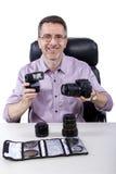 Fotógrafo com equipamento imagem de stock royalty free