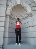 Fotógrafo como estatua Fotos de archivo