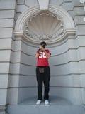 Fotógrafo como uma estátua Fotos de Stock