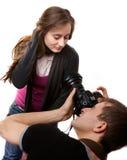 Fotógrafo con el modelo Foto de archivo libre de regalías