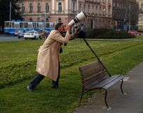 Fotógrafo con la lente de 500m m Fotos de archivo libres de regalías