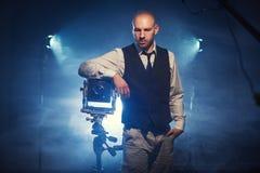 Fotógrafo con una cámara Imagenes de archivo