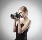 Fotógrafo da forma Imagens de Stock Royalty Free
