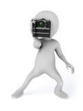 Fotógrafo da forma que toma fotografias Imagens de Stock