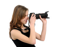 Fotógrafo da menina Imagem de Stock