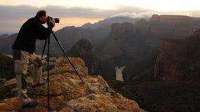 Fotógrafo da montanha Fotografia de Stock
