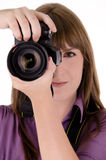 Fotógrafo da mulher Foto de Stock Royalty Free