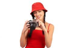 Fotógrafo da mulher Fotografia de Stock