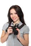 Fotógrafo da mulher nova Imagem de Stock Royalty Free