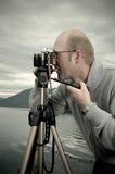 Fotógrafo da paisagem fotos de stock