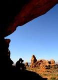 Fotógrafo da paisagem Imagem de Stock