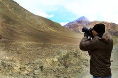 Fotógrafo da paisagem Imagens de Stock