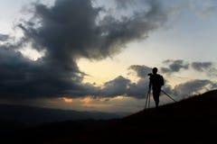 Fotógrafo da silhueta Imagens de Stock