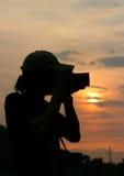 Fotógrafo da silhueta Foto de Stock