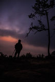 Fotógrafo da silhueta Fotos de Stock