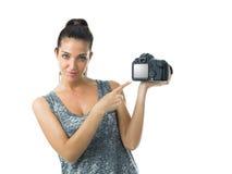 Fotógrafo de Attrative Foto de archivo libre de regalías