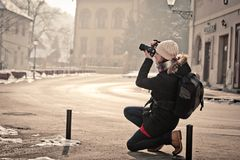 Fotógrafo de calle foto de archivo libre de regalías
