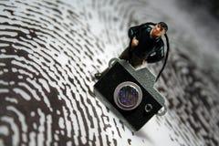 Fotógrafo de la escena del crimen Foto de archivo libre de regalías
