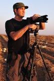 Fotógrafo de la fauna de la naturaleza Foto de archivo libre de regalías