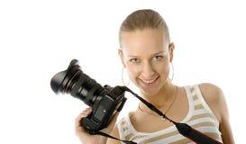 Fotógrafo de la muchacha Foto de archivo libre de regalías