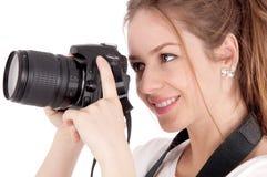Fotógrafo de la muchacha Fotografía de archivo libre de regalías