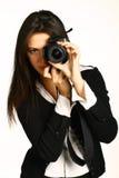 Fotógrafo de la muchacha fotografía de archivo