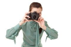 Fotógrafo de la mujer Imagenes de archivo