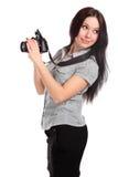 Fotógrafo de la mujer joven Imagen de archivo libre de regalías