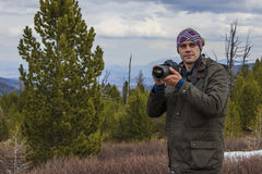 Fotógrafo de la naturaleza Fotografía de archivo libre de regalías